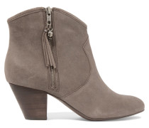 Jess Suede Ankle Boots Grau