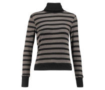 Creyton Striped Stretch-modal Turtleneck Sweater Schiefer