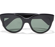 Jacey Cat-eye Marbled Acetate Sunglasses