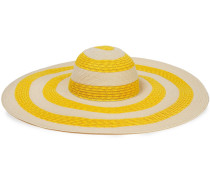 Sunny Striped Faux Straw Sunhat