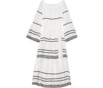 Rickrack-trimmed Linen Maxi Dress