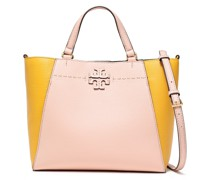 Two-tone Textured-leather Tote