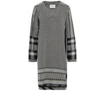 1v Minikleid aus Baumwoll-jacquard