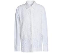 Cotton-blend corded lace shirt
