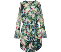 The Bessie printed silk-chiffon mini dress
