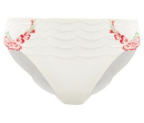 Embroidered Stretch-tulle Mid-rise Briefs