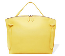 Hill Textured-leather Tote Gelb