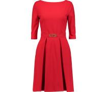Pleated Stretch-knit Dress Rot