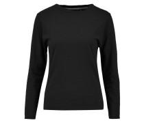 Slub Cotton-jersey Pajama Top Schwarz