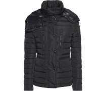 Padded shell hooded coat
