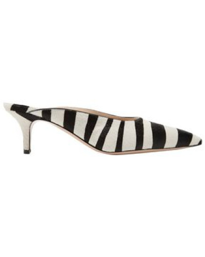 Zebra-print Calf Hair Mules Black