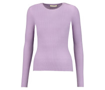 Ribbed Cashmere Sweater Flieder