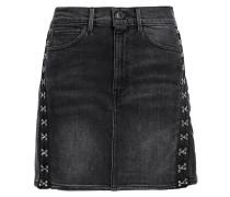 Corset Embellished Denim Mini Skirt