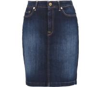 Denim Mini Skirt Dunkler Denim