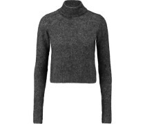 Felt turtleneck sweater