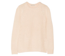 Textured-knit Sweater Pastellrosa