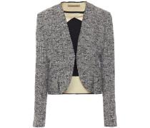 Pleated Bouclé-tweed Jacket