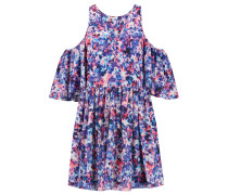 Robbie Cutout FloralPrint Crepe Mini Dress Mehrfarbig