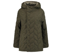 Reversible Quilted Brushed-twill Coat Armeegrün