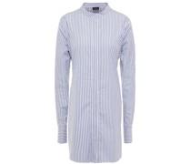 Striped Cotton-poplin Tunic