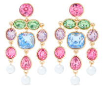 22-karat Gold-plated, Crystal And Faux Pearl Earrings