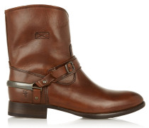 Lindsay Leather Ankle Boots Brown