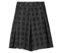 Denna Pleated Tweed Mini Skirt Schwarz