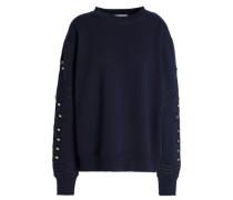 Embellished cotton-blend fleece sweatshirt