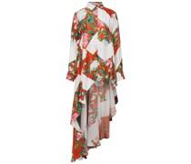 Asymmetrische Bluse aus Twill mit Floralem Print
