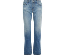 The Poker Faded Mid-rise Straight-leg Jeans