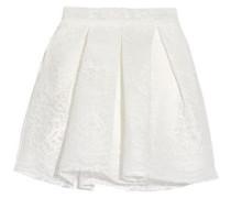 Jeko bonded guipure lace mini skirt