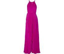 Ruffled Silk-chiffon Gown Fuchsia