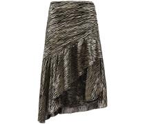 Ropa Asymmetric Metallic Fil Coupé Silk-blend Skirt