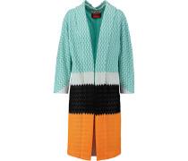 Crochet-knit Cotton-blend Coat Mehrfarbig