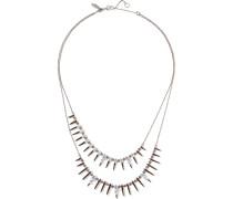 Gunmetal-tone Crystal Necklace Blau