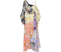 Floral-print Crepe De Chine Maxi Wrap Dress
