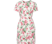 Jodie Floral-print Twill Dress Weiß