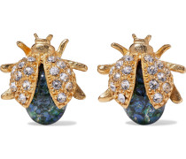 24-karat -plated, Swarovski Crystal And Stone Earrings