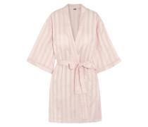 Shadow Stripe Cotton Robe Babypink