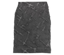 Flocked Twill Mini Skirt Anthrazit
