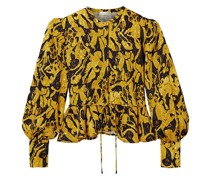 Ren Bluse aus Jacquard mit Print