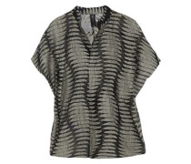 Mare organza and linen-blend jacquard top