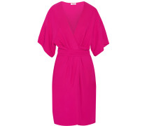 Geri Stretch-crepe Wrap-effect Dress Fuchsia