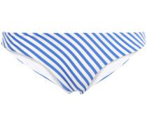 Lily Metallic Striped Low-rise Bikini Briefs
