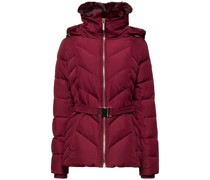 Faux Fur-trimmed Belted Quilted Shell Down Jacket