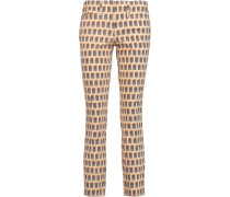 Landry Cropped Printed Mid-rise Skinny Jeans Pfirsich