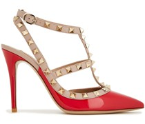 Rockstud Two-tone Smooth And Patent-leather Pumps