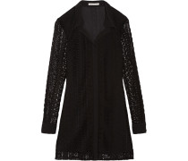 Beaton Crocheted Cotton Mini Dress Schwarz