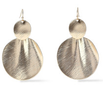 Brushed 22-karat -plated Earrings
