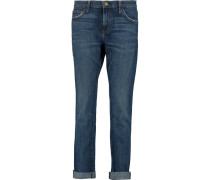 The Rendezvous Low-rise Boyfriend Jeans Mittelblauer Denim